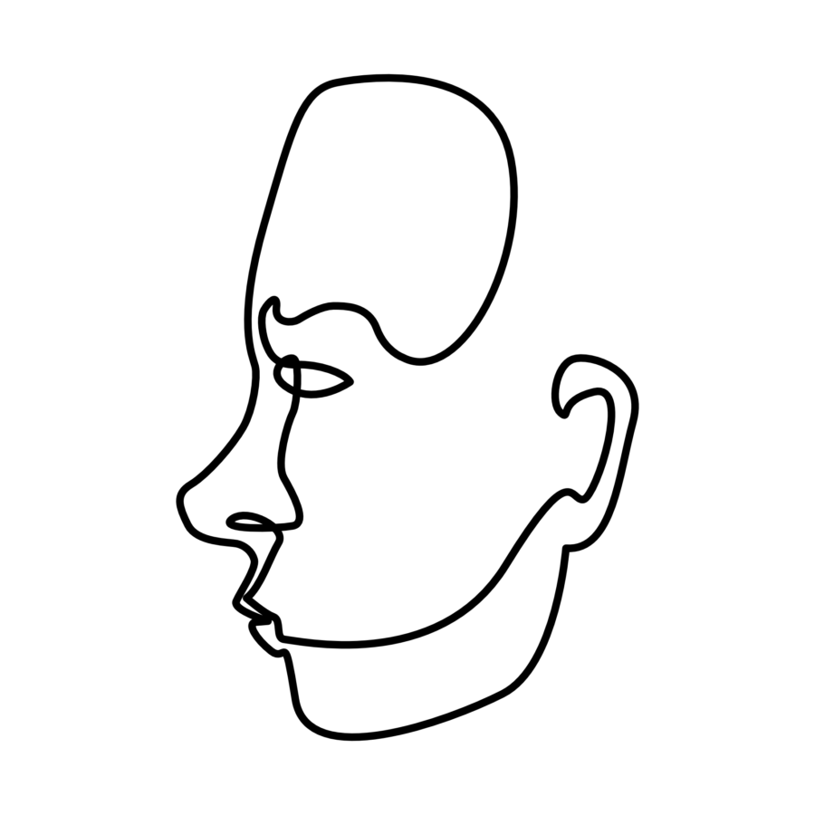 line art profile